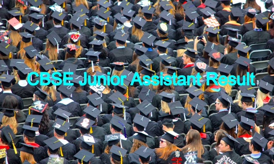 CBSE Junior Assistant Result 2020