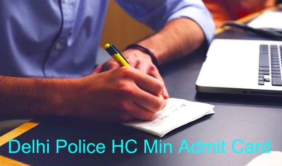 Delhi Police Head Constable Ministerial Admit Card 2020