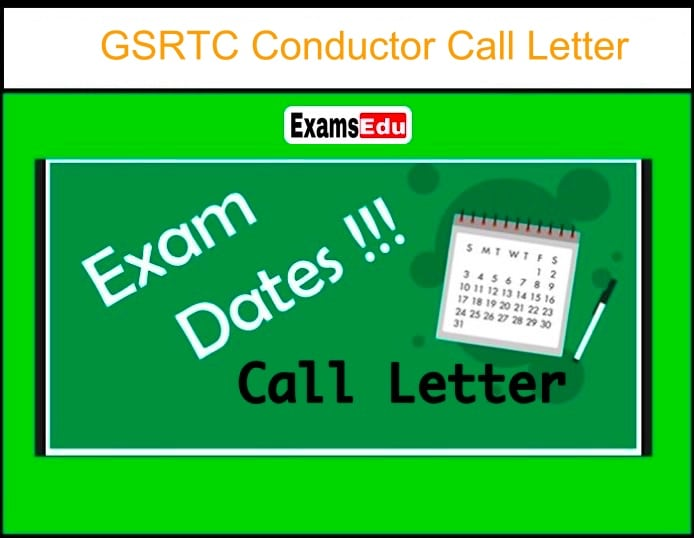 GSRTC Conductor Call Letter 2020