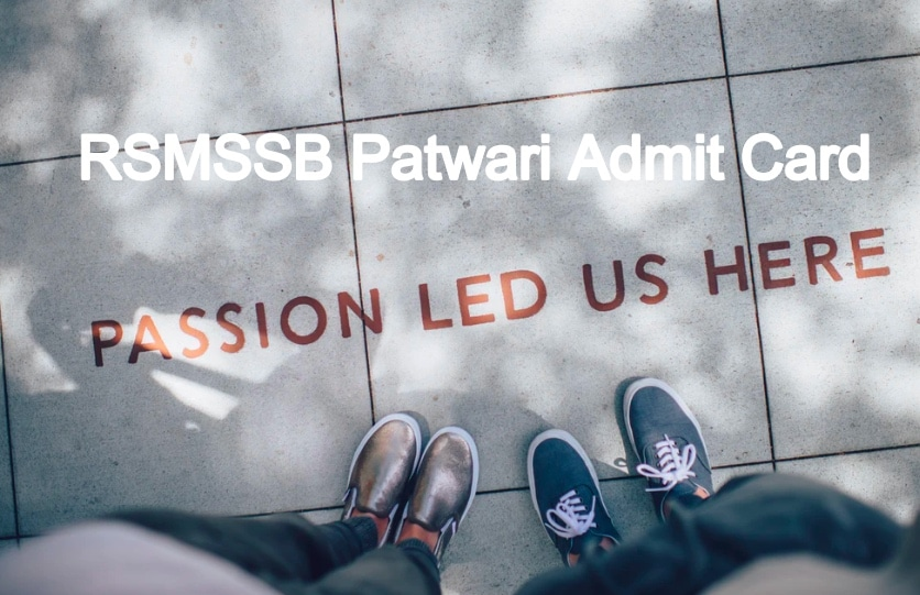 RSMSSB Patwari Admit Card 2020
