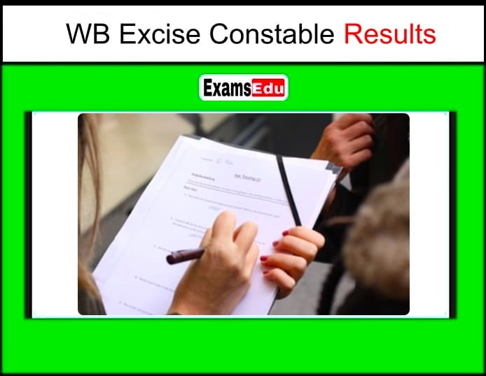WB Excise Constable Result 2019-20