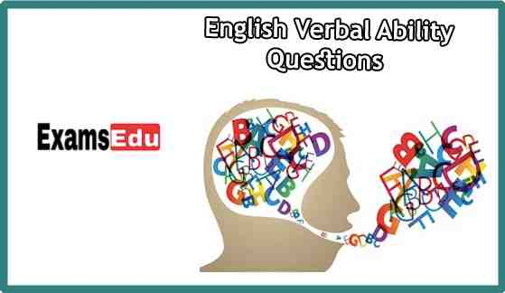 Verbal Ability Questions & Answers Quiz