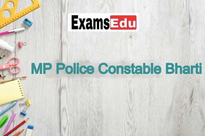 MP Police Constable Recruitment 2021 Apply Online