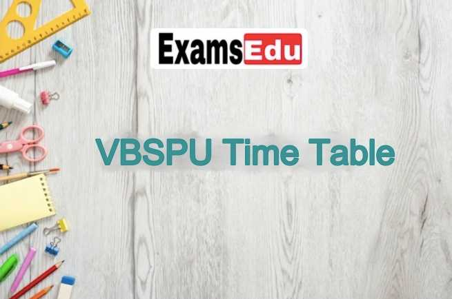 VBPSU Time Table 2021