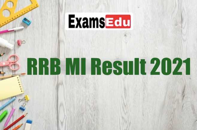 RRB Ministerial & Isolated Exam Result 2021 CEN 03/2019