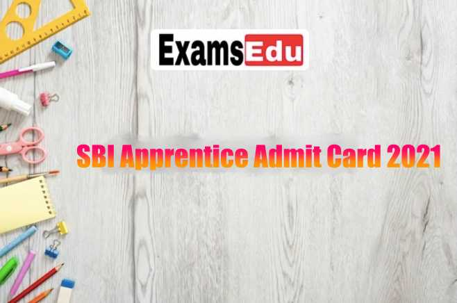 SBI Apprentice Admit Card 2021 Name Wise Download