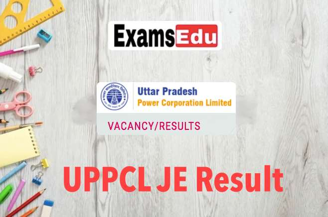 UPPCL JE Electrical Result 2021